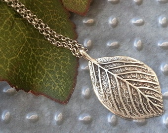 Leaf necklace leaf necklace silver