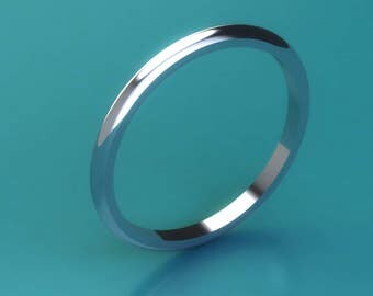 platinum 1.5mm d shape wedding ring / platinum 1.5mm wedding ring / platinum ring/ platinum band/hatton garden london jewellers
