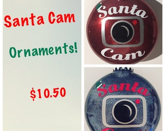 Santa Cam. Santa Camera. Christmas Ornament