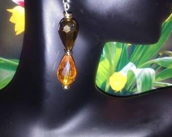 Chocolate and caramel dangle earrings