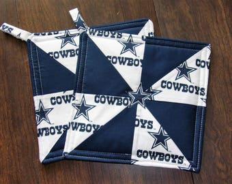 Dallas Cowboys set of 2 potholders
