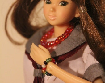 Colorfull necklace  for   1/6 Dolls  Azone, Barbie, Blythe, Fashion Royalty,  Momoko, Monster High, Phicen,  Pullip