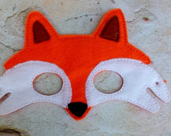 Fox mask.Embroidered fox mask.