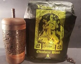 Walnut Death Wish Coffee Bean Lidded Jar