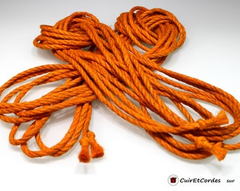 Rope of hemp for shibari-kinbaku diam 6mm long 8 m color yellow Orange