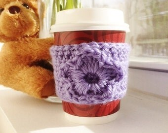 Two Cup Cozy | Coffee Sleeve | Hand Crochet | Eco Friendly | Coffee Cozy