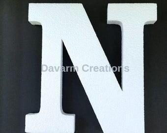 11 INCHES ALPHABET Letter Styrofoam, Foam letter,Polystyrene letter, 11 inches letter