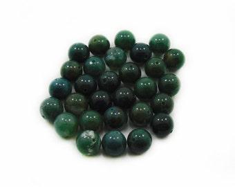 Green Agate Beads, 10mm Green Agate Beads, Agate Beads, Round Green Beads, Jewelry Making, DIY Beads