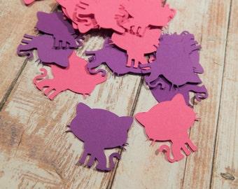 Kitten Theme Confetti, Pink and Purple