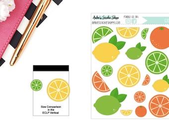 Citrus Lemon Lime Orange Sticker for any Planner