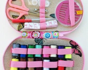 Travel sewing kit - sewing kit - travel kit - material for sewing - sewing-sewing - sewing supplies-sew materials - threads set