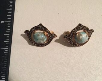 Vintage Sarah Coventry Goldtone Clip Earrings - AB