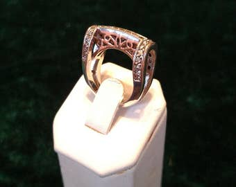 Vintage Cubic Zirconia Sterling Silver Ring Size 5 6.7g AFSP