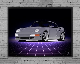 Bavarian Monster (  Porsche / RUF 911 993 Art Print )