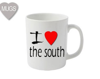 I Love The South mug