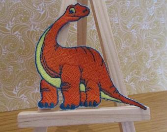 Cute Orange Dinosaur Patch.