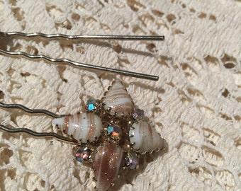 Vintage bejewelled hairpins