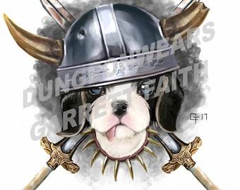 Barbarian Puppy Sticker