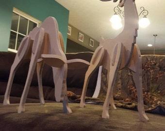 Medium sized wooden reindeer