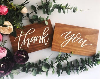 Thank You Photo Prop Sign | Thank You Sign | Wedding Photo Prop | Wedding Sign | Event Sign | Thank You Wooden Sign | Wedding Decor | Rustic