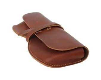 Leather Sunglasses Holder Glasses Case Sunglass Cover Case Leather Case for Reading Glasses - Brown