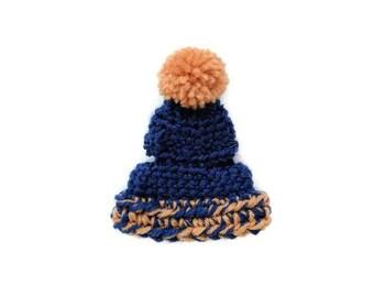 Navy blue pet rabbit beanie, pet bunny beanie, pet rabbit hat, crochet pet beanie, pet rabbit accessories, clothes for rabbits, pet beanie