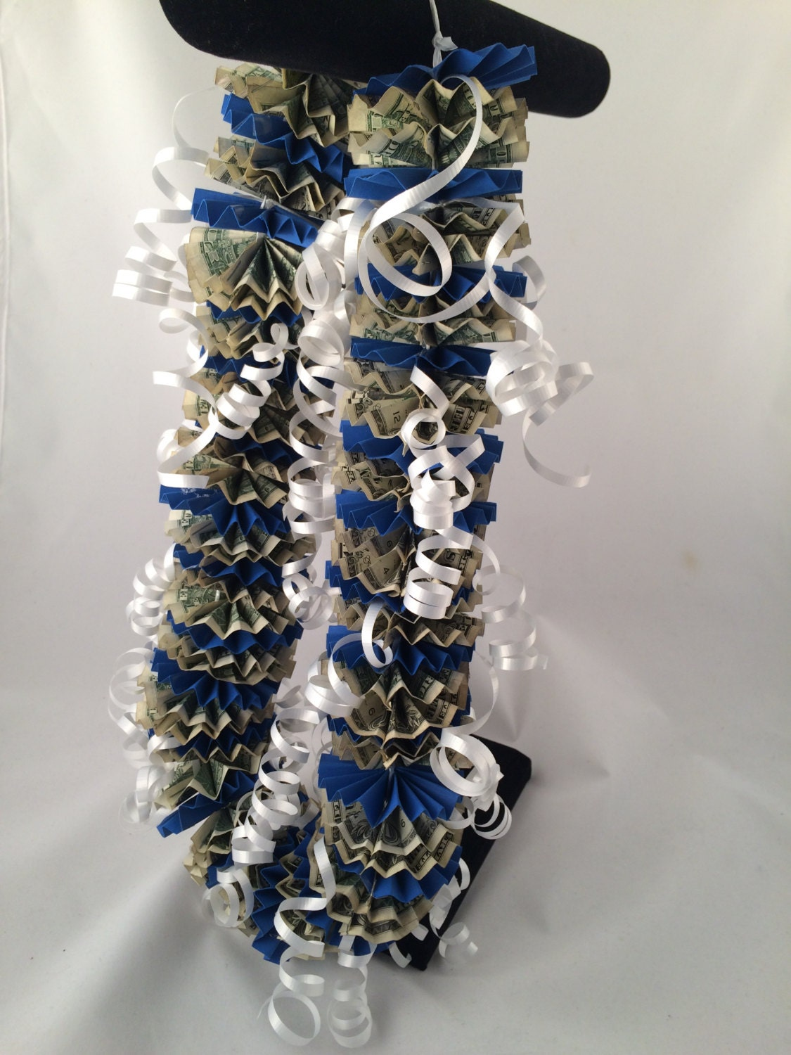 Lei Can Be Made With Construction Paper Yarn Solid: 50 Dollar Money Lei Royal Blue Leis Cash Leis Dollar