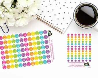 Planner Stickers|Cell Phone Dot Icon Stickers|Smart Phone Stickers|For use in various paper planners and journals|I013 and I013-M