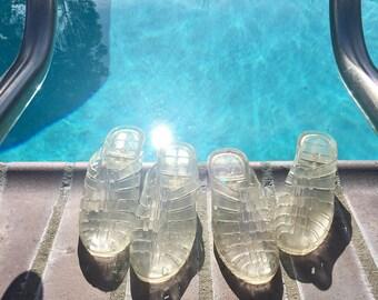 90's Jelly Heel Sandals!