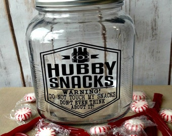 Funny Gift for Him, Man Snack Jar, Gift for Hubby, Funny Gift for Husband, Father's Day Gift, Funny Birthday Day Gift for Him