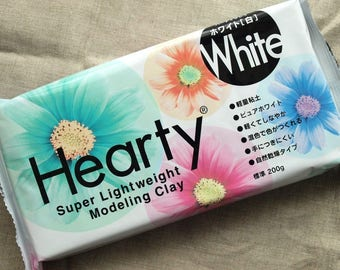 PADICO Super Light Weight Modeling Clay Hearty White 200g