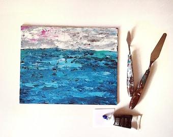 Original Seascape Painting || Acrylic Paint || 8 x 10 ||