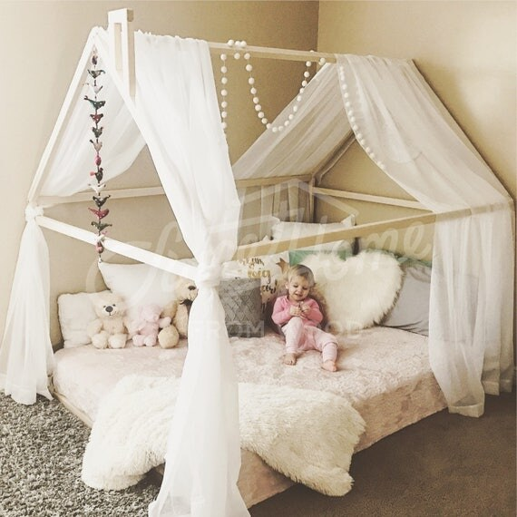 Like this item? & Wood bed FULL/DOUBLE toddler bed tent bed wooden house bed