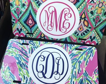 Lilly Pulitzer license plate