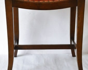 Vintage Oak Piano Seat Dressing Table Stool In Lovely Condition Sturdy