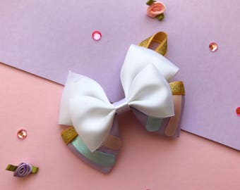 Chip Beauty and the Beast Inspired Hair Bow