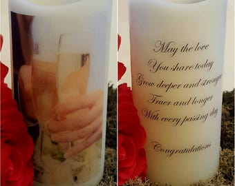 Wedding or Anniversary personalised LED candle