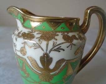 green gold gilded decorative jug Japan