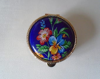 ceramic topped hand painted pill box