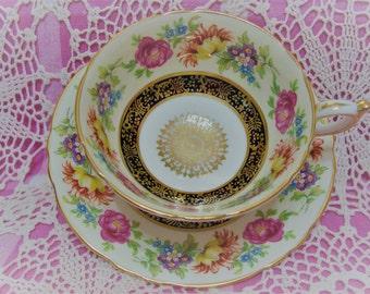 Lovely Vintage PARAGON Floral Cup & Saucer.