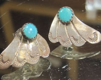 D- 26 Vintage  Earrings   925 silver and turquoise
