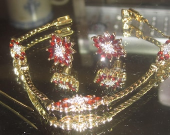 E-100 Vintage  Bracelet  earrings and brooch pin