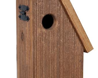 Amish-Made Rustic-Wood Bluebird Bird House