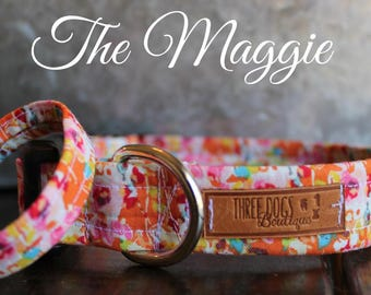 """Dog Collar with optional bff bracelet """"The Maggie"""" FREE SHIPPING 