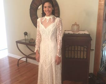 Vintage Wedding Dress, Off White Wedding Dress, Trash This Dress,