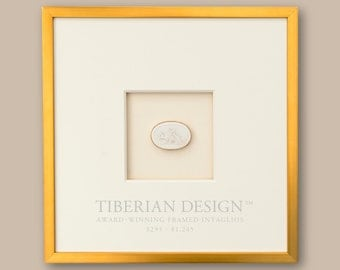 award winning framed intaglios single intaglio with neo classical frame 14 12 x 14 12