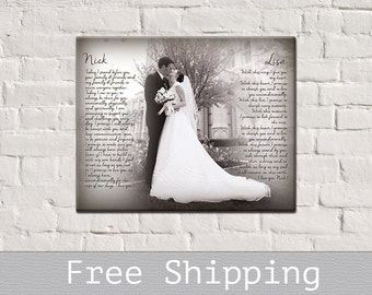 Wedding Vows Canvas - Canvas Vows - First Dance Song Lyrics Canvas - Vows Canvas - Canvas Print - 1st Anniversary Gift