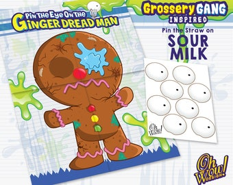 Grossery Gang Theme Pin The Eye on The Ginger Dread Man: Digital File