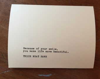 Thich Nhat Hanh Beautiful Smile Greeting Card