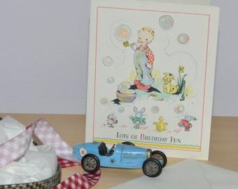 Vintage Greetings Card birthday card 1930s/1940s
